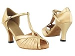 2707 Light Brown Satin & Light Gold