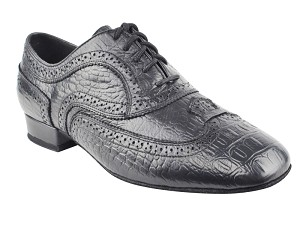 CD9002A Black Croc Embossed Leather