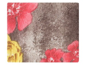 14 Grey_Red Flower Satin
