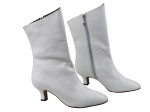 PP205A Ankle Boot White Leather