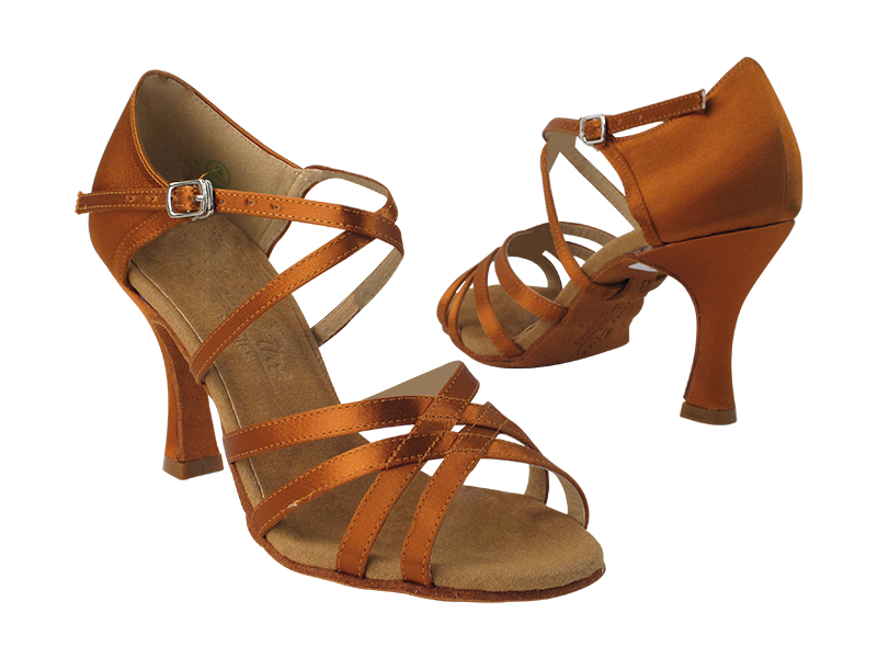 C1606 Copper Tan Satin with 3