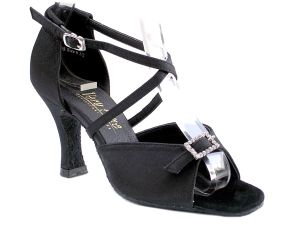1636 Black Satin with 3