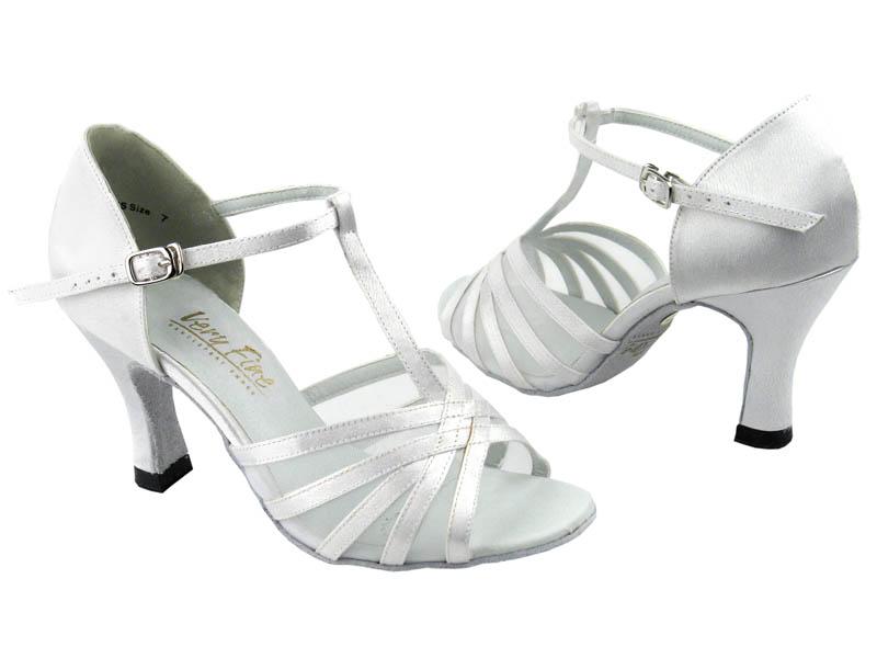 "3/""  Very fine 1661 Silver black Salsa Ballroom Latin Leather Dance Shoes 2.5/"""