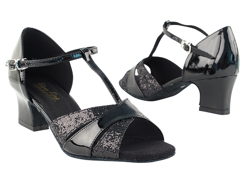 6016 Black Sparkle_Black Patent with 2