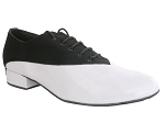 2504 Black Nubuck & White Patent