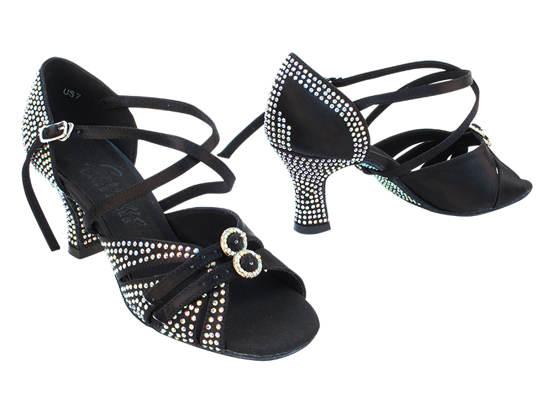 S92307CC Black Satin with 2.5 inch Heel (11046) in the photo