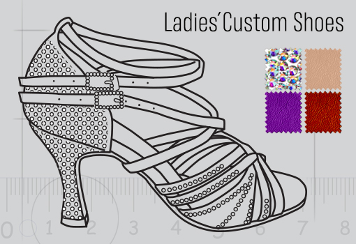 Ladies Dance Shoes Designed by Customers
