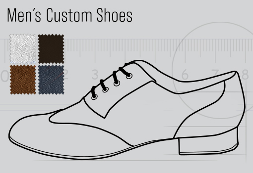 Mens Dance Shoes Designed by Customers