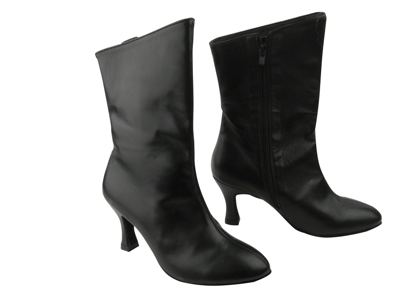 PP205A Ankle Boot Black Leather with 2.75