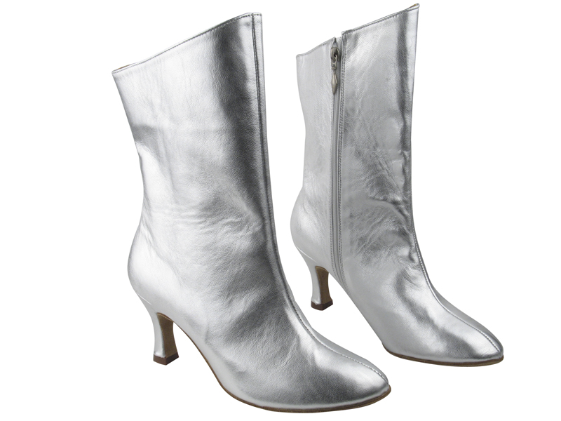 PP205A Ankle Boot Silver Leather with 2.75