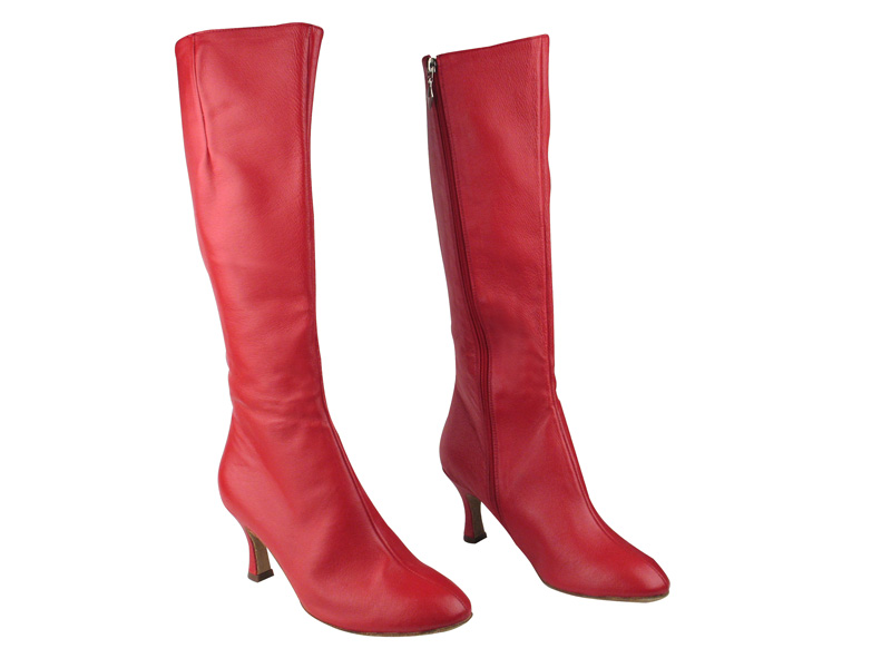PP205 Boots Red Light Leather with 2.75