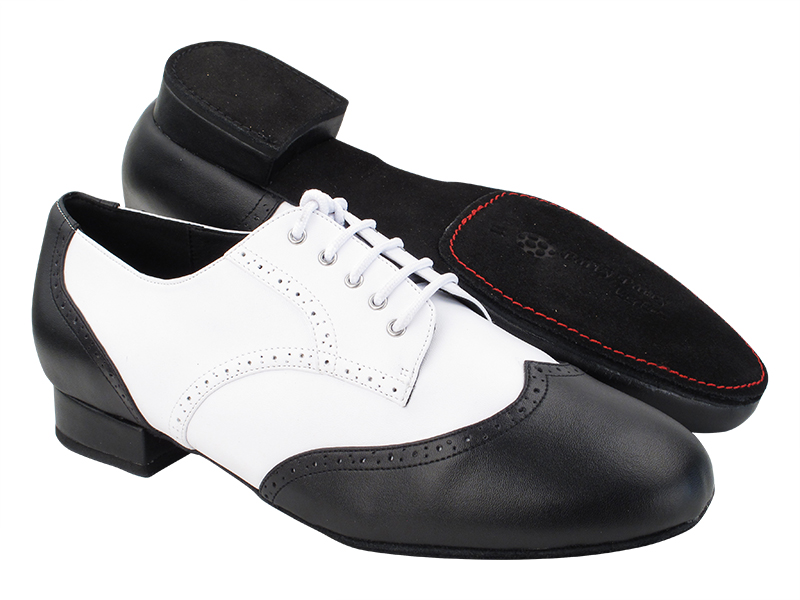 PP301DB Black Leather & White Leather with 1
