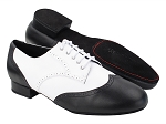 PP301DB Black Leather & White Leather