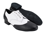 PP301R Black Leather & White Leather