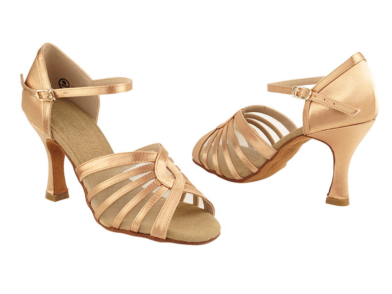 S2805 Tan Satin with 3