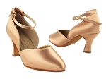 S9129 Tan Satin Vegan