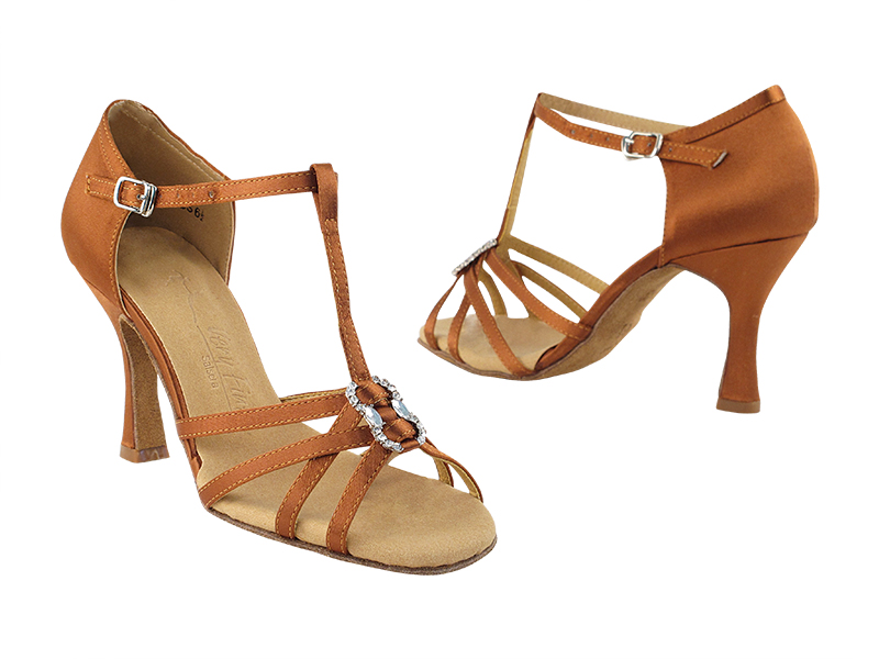 SERA1120 Dark Tan Satin with 3