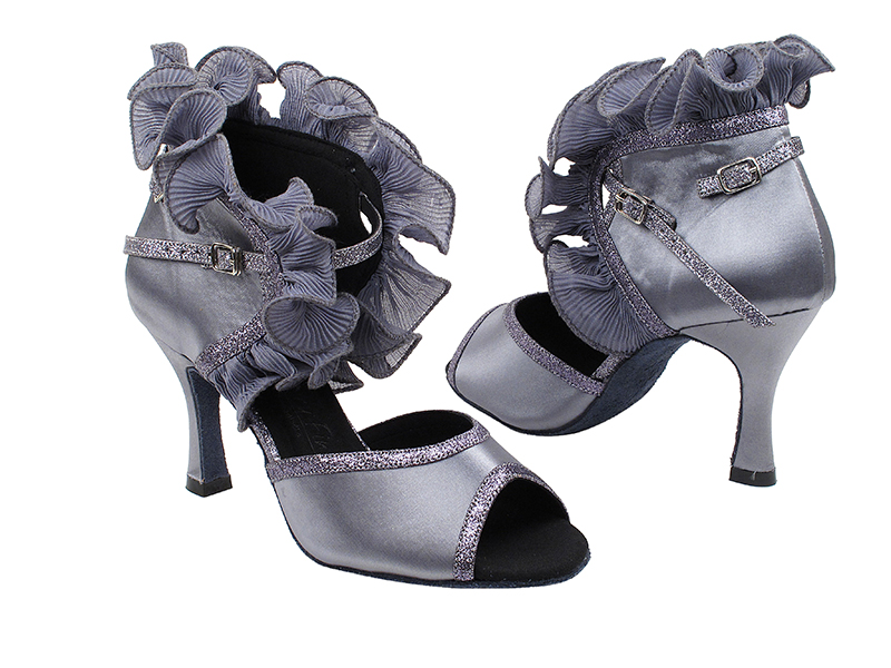 SERA7013 Silver Grey Satin with 3