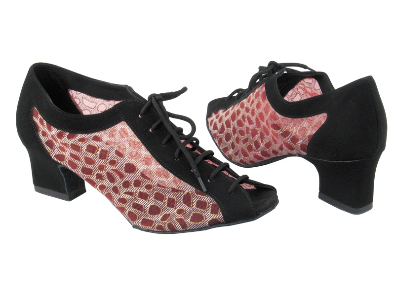 1643 Black Nubuck_198 Red Mesh