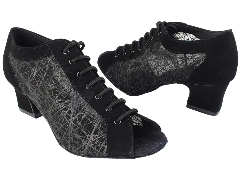 1643LEDSS Black Nubuck_Black Square Mesh with 2