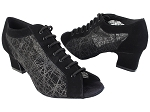 1643LEDSS Black Nubuck_Black Square Mesh