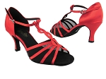 1692 112 Red Satin_Black Mesh