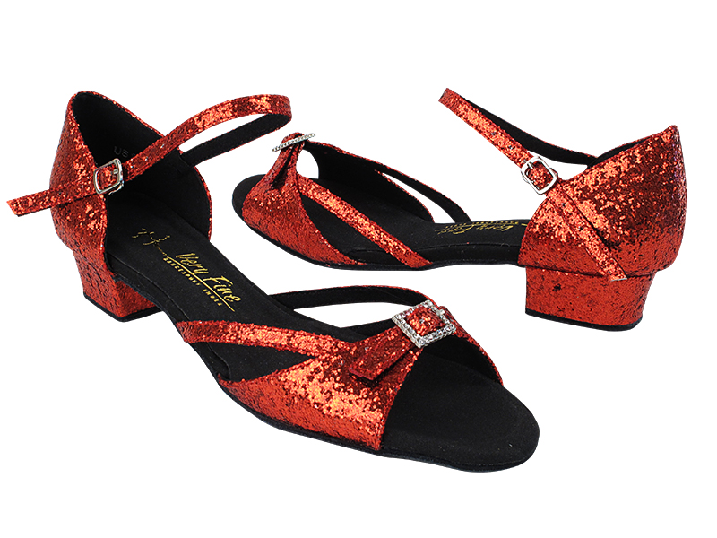 1720FT 37 Red Sparkle_same as SERA1110_Ankle Strap Fixed