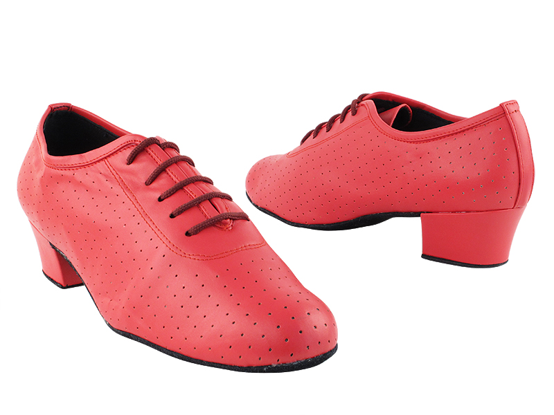 2001 266 Red Perforate Leather