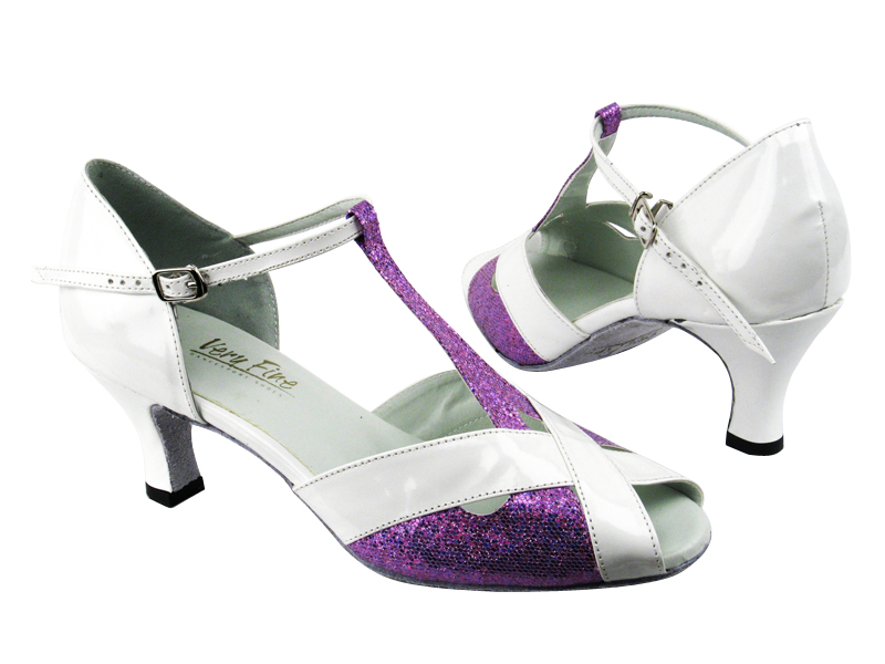 2703 190 Purple Scale_White Patent Trim