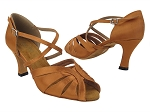 2713 236 Dark Tan Satin_X-Strap Arch