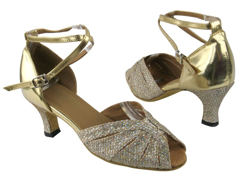 2713 Gold Sparklenet_Gold Leather