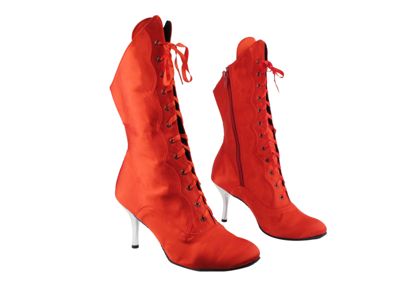 3301Boot 112 Red Satin with 3