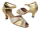 6006 74 Gold Sparklenet_X_57 Light Gold PU_X-Strap Ankle
