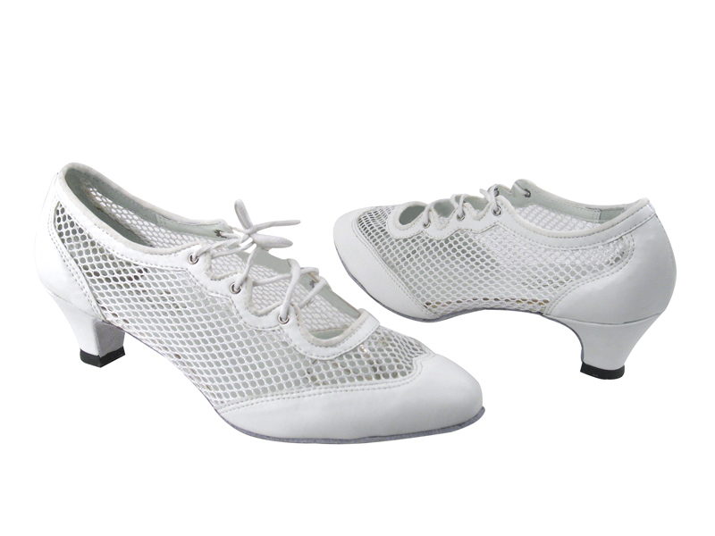 6823 White Leather & 177 White Mesh