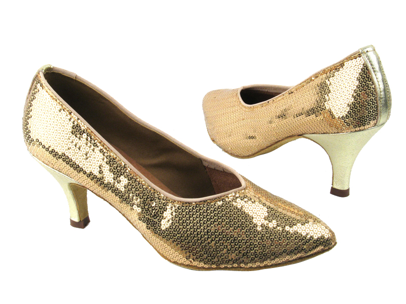 6903 256 Gold_120 Gold Leather Heel