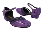 8881 237 Dark Purple Dots_281 Purple Suede Trim