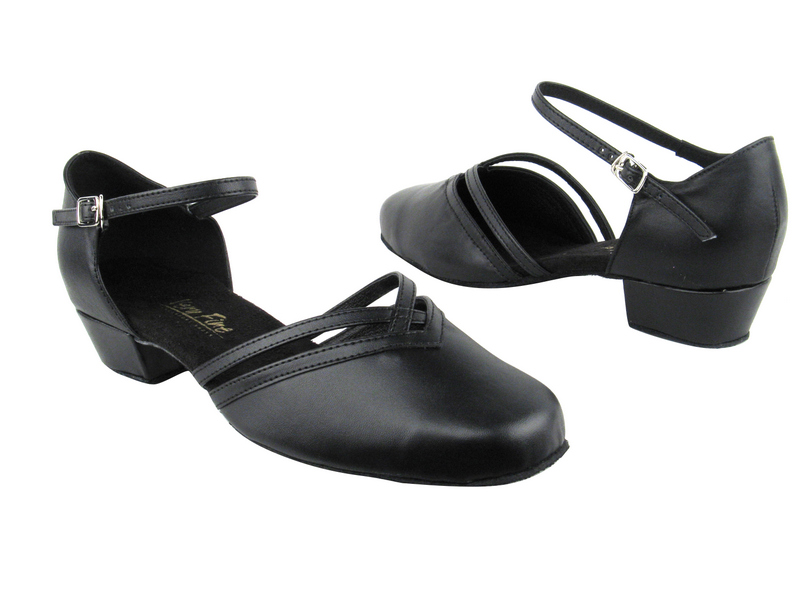 8881 Black Leather_Whole Shoes