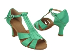 S2806 138 Dark Green Satin