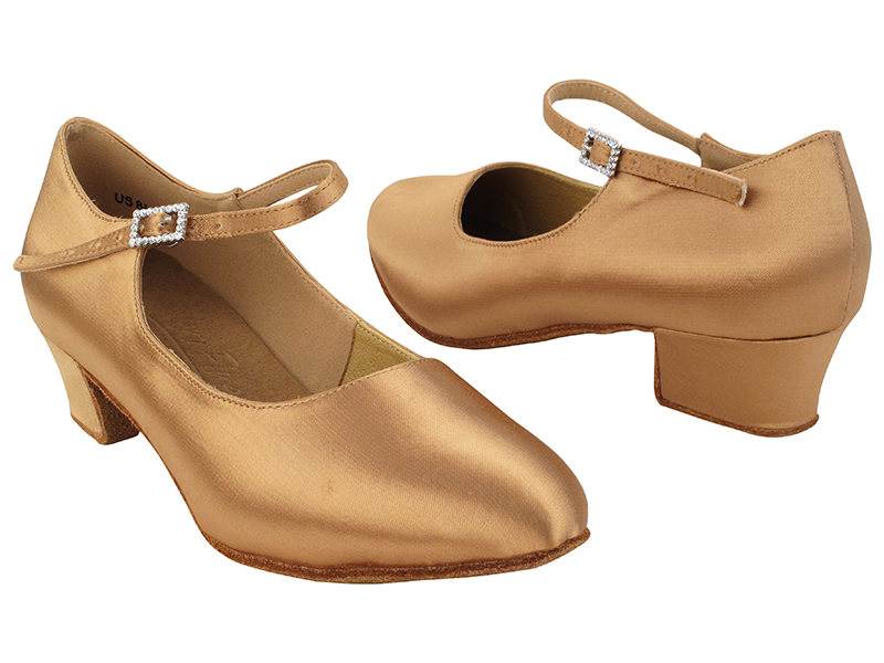 S9137 Tan Satin_1.5 inch Heel with 1.5
