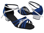 S92327 114 Dark Blue Satin_214 Silver PU Trim