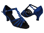 SERA1692 114 Dark Blue Satin_Black Mesh