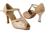 SERA2800 8 Gold Stardust_220 Beige Brown Leather Trim