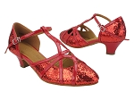 SERA3541 37 Red Sparkle_264 Red Patent PU Trim