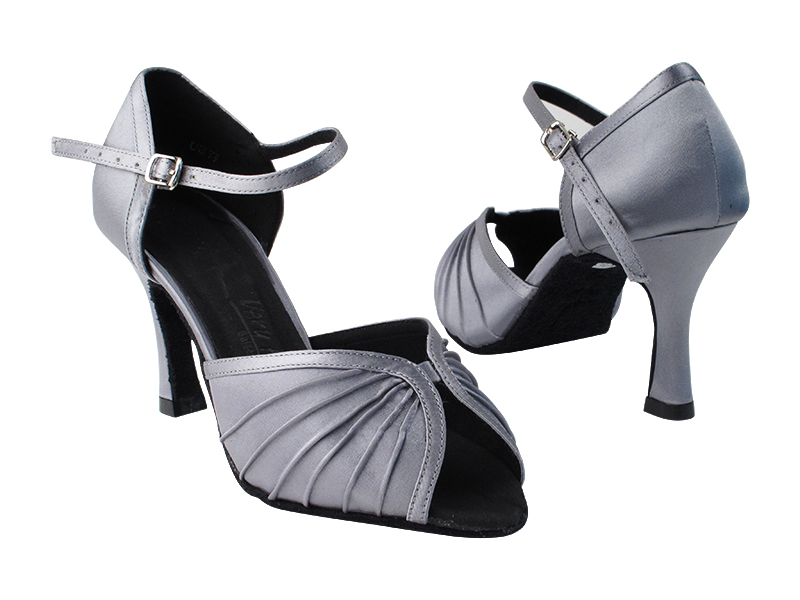 SERA3830 180 Grey Satin_Whole Shoes