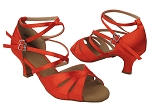 SERA3840 118 Red Satin_Double Straps