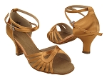 SERA3870 211 Tan Satin_X-Strap Ankle