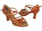 SERA6005 212 Dark Tan Satin_X-Strap Arch