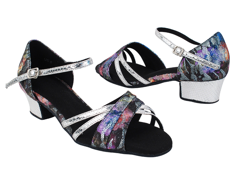 SERA6030 197 Flower Glitter Satin_T_B_87 Snake Silver_S_H with 1.5