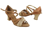 SERA6030 8 Gold Stardust_H_281 Tan Satin with Gold Trim_S_281 Tan Satin_B