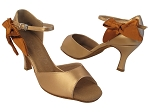 SERA7010 287 Copper Nude PU_301 Copper Tan Satin Bow